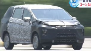 Carlos Ghosn spotted testing the upcoming Mitsubishi XM 7-seat crossover