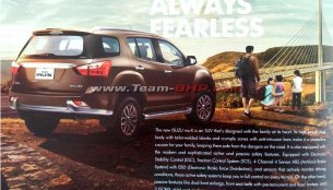 Indian-spec Isuzu MU-X brochure leaked days ahead of launch