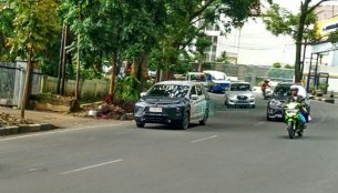 Production Mitsubishi XM crossover spied on test in Indonesia
