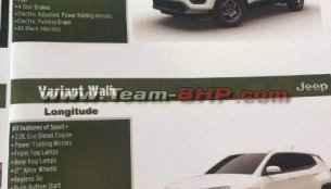 Jeep Compass Indian brochure leaked