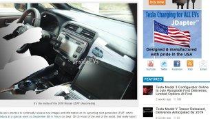 2018 Nissan Leaf interior revealed in a spy shot