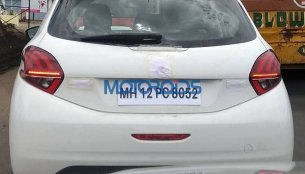 2017 Peugeot 208 hatchback spied undisguised in India