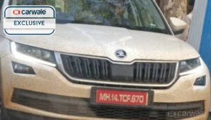 Skoda Kodiaq spied sans camouflage in Pune