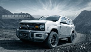 Ford Bronco 4-door (Jeep Wrangler Unlimited rival) rendered
