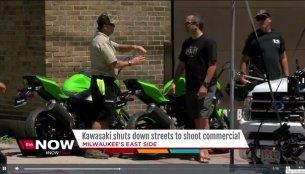 Next-gen Kawasaki Ninja 400 spotted during ad shoot