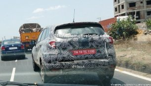 Top-spec Renault Captur spotted on test near Chennai