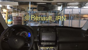 Iranian-spec Renault Kwid spied inside-out