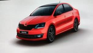 Skoda Rapid Monte Carlo for India previewed, to launch this month