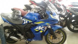 Suzuki Gixxer SF ABS spotted at a dealership; new brochure leaked