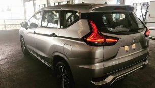 Mitsubishi Xpander (Mitsubishi Expander) with beige interior spotted inside-out