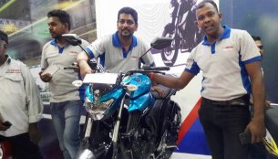 Yamaha FZ25 showcased at Colombo Motor Show 2017