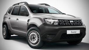 Sub-£10,000 2018 Dacia Duster base model rendered