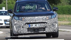 2018 Suzuki Vitara (facelift) spotted on test in Europe