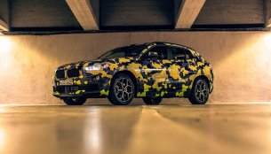 Camouflaged BMW X2 snapped at Milano Fashion Show