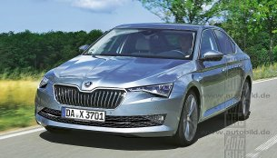 2018 Skoda Superb (facelift) front & rear rendered by German media