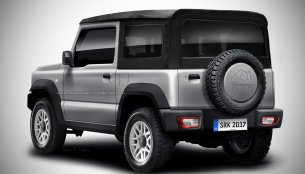 Rear of the 2018 Suzuki Jimny soft top - Rendering