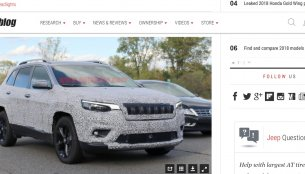 2019 Jeep Cherokee spy shots reveal shift to conventional headlamps