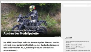 KTM 390 Adventure spied in Europe