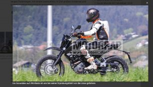Scrambler variant of KTM 390 Duke spied in Austria