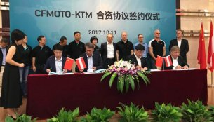 KTM enters joint venture with CF Moto