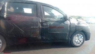 Fresh spy shots of the next-gen Maruti Ertiga reveal new details
