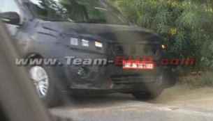Next-gen Maruti Ertiga test mule spied in India for the first time