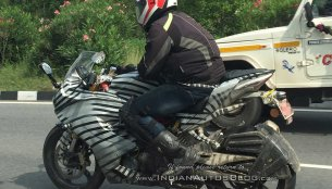 IAB reader spots TVS Akula 310 (TVS Apache RR 310S) with modified tyre hugger
