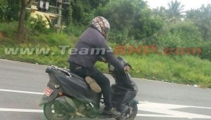 Is this the first sighting of the TVS Graphite scooter?