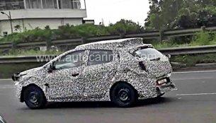 Tata X451 hatchback spotted testing next to a Maruti Swift