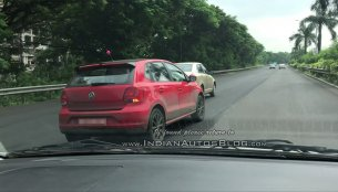 Sporty dual-tone VW Polo with body stripes spotted on test