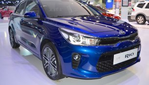 2017 Kia Rio showcased at the 2017 Dubai Motor Show