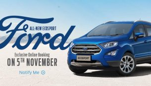 Ford to accept 2018 Ford EcoSport bookings on Amazon.in on 5 November