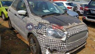 2018 Ford Figo/Ford Aspire spy shot reveals headlamp and grille