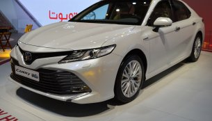 2018 Toyota Camry Hybrid showcased at the 2017 Dubai Motor Show