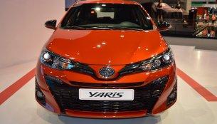 2018 Toyota Yaris showcased at the 2017 Dubai Motor Show