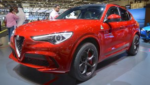 Alfa Romeo Stelvio Quadrifoglio showcased at the 2017 Dubai Motor Show