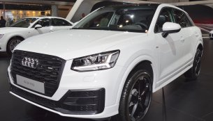 Audi Q2 showcased at the 2017 Dubai Motor Show