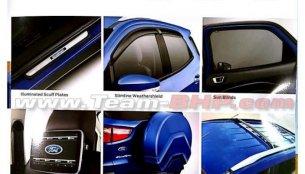 Ford EcoSport facelift brochure leaked