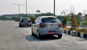Ford Figo facelift & Ford Figo cross (Active/Freestyle) spotted testing