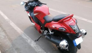 Hero Xtreme modified into a Suzuki Hayabusa replica
