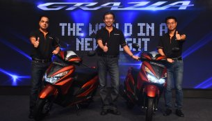 Honda Grazia scooter launched at INR 57,897