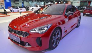 Kia Stinger GT showcased at the 2017 Dubai Motor Show