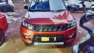 Maruti Vitara Brezza spotted with a custom Jeep grille