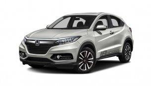 2018 Honda HR-V (facelift) rendered based on spy shot