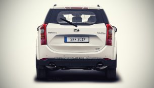 2018 Mahindra XUV500 (facelift) rear rendered