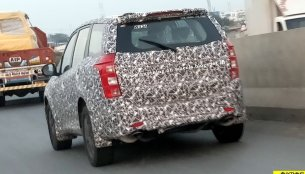 Fresh spy shots of 2018  Mahindra XUV500 (facelift) surface online