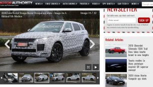 2019 Range Rover Evoque spied testing on British Roads