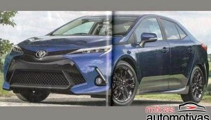 2019 Toyota Corolla rendered by Japanese media