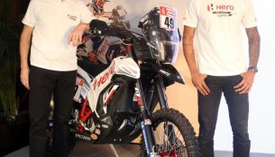 New Hero RR 450 Rally bike showcased; 2018 Dakar team announced