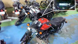 Royal Enfield Thunderbird 350X spotted at a dealership